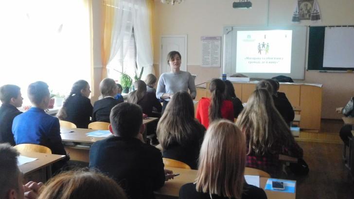 У Люблинці зі старшокласниками говорили про їх права та обов'язки у громаді